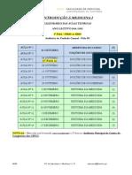 Calendarização Aulas Teóricas e Práticas - Intro. Medicina I (1)