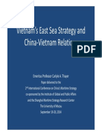 "Thayer Power Point Slides, ""Vietnam's East Sea Strategy and China-Vietnam Relations"""
