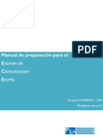 Manual de Preparación Para El Examen de Comunicación Escrita