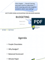 Wk8 9 Budget for the Short-Term