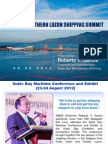 SBMA Chairman Roberto Garcia's Northern Luzon Shipping Summit Final Presentation