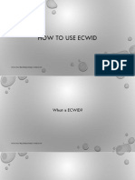 How to use Ecwid