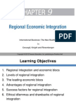 IB Chapter 9 Regional Economic Integration