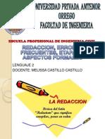 Redaccion, Errores Frecuentes, Etapas y Aspectos Formales.