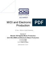 SAE MIDI and Electronic Music Production Course