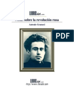 A Gramsci Notas Sobre La Revolucion Rusa