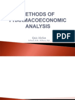 Methods of Pharmacoeconomic Analysis
