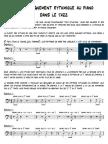 Accompagnement Rythmique-piano Jazz