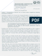 Letter Reg Service Tax