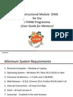 User Guide for I-THINK SIM Mentors v3