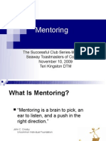 The Successful Club Series-Mentoring Seaway Toastmasters of Cornwall November 10,