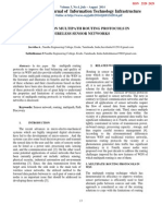A SURVEY ON MULTIPATH ROUTING PROTOCOLS IN WIRELESS SENSOR NETWORKS