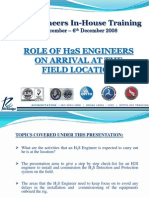 Roles and Responsibility of H2S Engineer