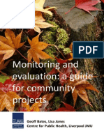 monitoring  evaluating-a guide for community projects
