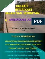 Spesifikasi Jalan 1