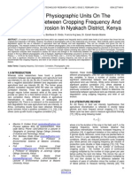 Effects of Physiographic Units on the Relationship Between Cropping Frequency and Level of Soil Erosion in Nyakach District Kenya