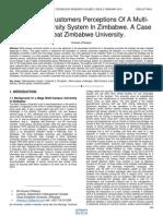 The Internal Customers Perceptions of a Multi Campus University System in Zimbabwe a Case of Great Zimbabwe University