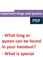 Important Kings and Queens