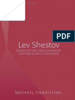 Michael Finkenthal Lev Shestov Existential Philosopher and Religious Thinker (1)