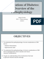 2013-10-23 Pathophysiology of Diabetes Complications Dr M. Poddar
