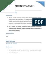 Exercício Administração Estácio 9 Periodo