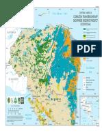 Mapa de Ecosistemas Del Proyecto Reserva de Biosfera Transfronteriza Corazon Del Corredor Biologico Mesoamericano