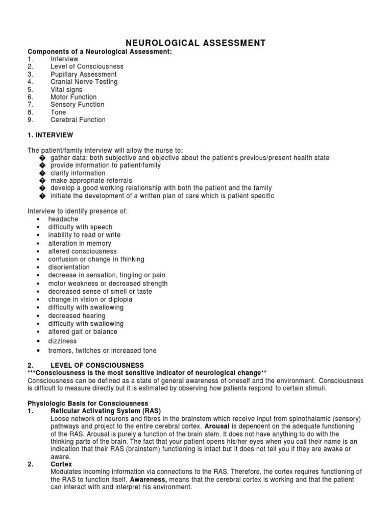 Neurological Assessment Anatomical Terms Of Motion Coma Neurologic assessment doesn't just take place in neuro units and the ed. neurological assessment anatomical