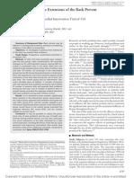 Can Passive Extension Prevent LBP