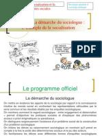 Thème 3 - La Démarche Du Sociologue - L'Exemple de La Socialisation