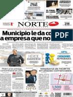 Periódico Norte de Ciudad Juárez edición impresa del día 28 de septiembre de 2014