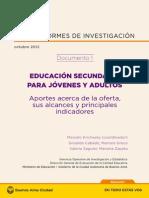 2-Educación secundaria para jóvenes y adultos. Aportes acerca de la oferta, sus alcances y principales indicadores (2012).pdf
