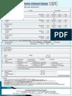 Borang Pendaftaran Program MPC