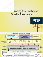 2a Understanding the Context of Quality Assurance