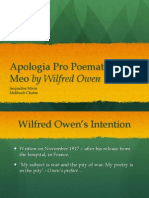 Apologia Pro Poemate Meo - Wilfred Owen