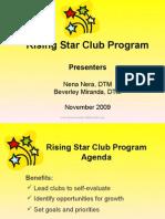 Educational Rising Star Club Program Ppp Nov 09