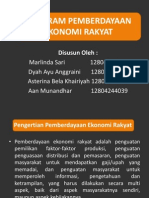 Program Pemberdayaan Ekonomi Rakyat