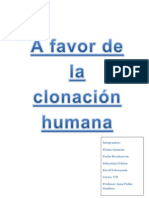 Informe debate clonación humana