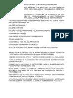 FISIOLOGÍA POSTCOSECHA DE FRUTAS YHORTALIZASDEFINICION