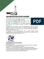 DEFINICIÓN MACROECONOMÍA