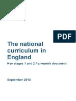 primary national curriculum 220714