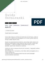 Aula 01 - Guido Cavalcanti