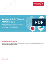 Lavastorm Analytics Survey Skills Tools and Attitudes October 2013