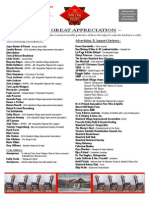 appreciation sheet