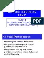 hubungan etnik tajuk4:pembangunan ekonomi