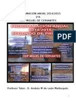 Programación Anual Segundo 2014-2015 Ceip Miguel de Cervantes