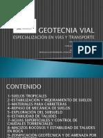 Geotecnia Vial Sesion 1 (14 y 15 Sept 2014)