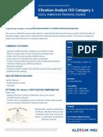Alstom MSc VCAT1 2013 Course Brochure