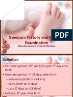 Phyiscal Examination of the Newborn