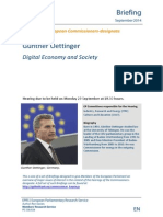 Günther Oettinger Digital Economy and Society