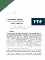 Pinto 1974 a Universidade Brasileira a Luz do modelo prismático